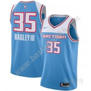 Barn Basketball Drakter Sacramento Kings 2019-20 Marvin Bagley III 35# Blå City Edition Swingman Dra..