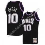 Sacramento Kings NBA Basketball Drakter 2001-02 Mike Bibby 10# Svart Hardwood Classics Swingman Drak..
