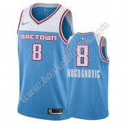 Sacramento Kings NBA Basketball Drakter 2019-20 Bogdan Bogdanovic 8# Blå City Edition Swingman Drakt..