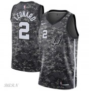 Barn Basketball Drakter San Antonio Spurs 2018 Kawhi Leonard 2# City Edition Swingman..