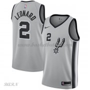 Barn Basketball Drakter San Antonio Spurs 2018 Kawhi Leonard 2# Statement Edition Swingman..