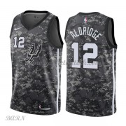 Barn Basketball Drakter San Antonio Spurs 2018 LaMarcus Aldridge 12# City Edition Swingman..