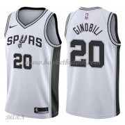 Barn Basketball Drakter San Antonio Spurs 2018 Manu Ginobili 20# Association Edition Swingman..