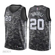 Barn Basketball Drakter San Antonio Spurs 2018 Manu Ginobili 20# City Edition Swingman..