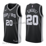 Barn Basketball Drakter San Antonio Spurs 2018 Manu Ginobili 20# Icon Edition Swingman..