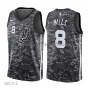 Barn Basketball Drakter San Antonio Spurs 2018 Patty Mills 8# City Edition Swingman..