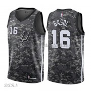 Barn Basketball Drakter San Antonio Spurs 2018 Pau Gasol 16# City Edition Swingman..