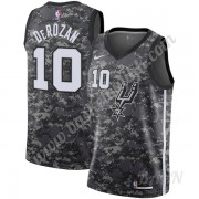 Barn Basketball Drakter San Antonio Spurs 2019-20 DeMar DeRozan 10# Svart City Edition Swingman Drak..