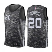 San Antonio Spurs NBA Basketball Drakter 2018 Manu Ginobili 20# City Edition..
