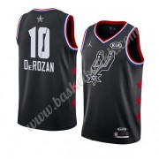 San Antonio Spurs 2019 Demar Derozan 10# Svart All Star Game NBA Basketball Drakter Swingman..
