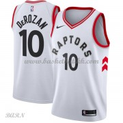Barn Basketball Drakter Toronto Raptors 2018 DeMar DeRozan 10# Association Edition Swingman..