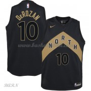 Barn Basketball Drakter Toronto Raptors 2018 DeMar DeRozan 10# City Edition Swingman..