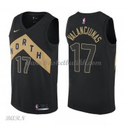 Barn Basketball Drakter Toronto Raptors 2018 Jonas Valanciunas 17# City Edition Swingman..