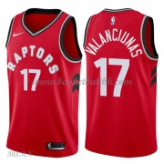 Barn Basketball Drakter Toronto Raptors 2018 Jonas Valanciunas 17# Icon Edition Swingman..