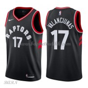 Barn Basketball Drakter Toronto Raptors 2018 Jonas Valanciunas 17# Statement Edition Swingman..