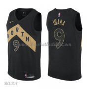 Barn Basketball Drakter Toronto Raptors 2018 Serge Ibaka 9# City Edition Swingman..
