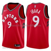 Barn Basketball Drakter Toronto Raptors 2018 Serge Ibaka 9# Icon Edition Swingman..