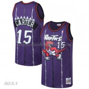 Barn Basketball Drakter Toronto Raptors Kids 1998-99 Vince Carter 15# Purple Hardwood Classics Swing..