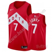 Barn Basketball Drakter Toronto Raptors 2019-20 Kyle Lowry 7# Rød Earned Edition Swingman Drakt..