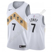 Toronto Raptors NBA Basketball Drakter 2019-20 Kyle Lowry 7# Hvit City Edition Swingman Drakt..