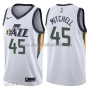 Barn Basketball Drakter Utah Jazz 2018 Donovan Mitchell 45# Association Edition Swingman..