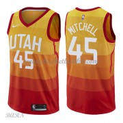 Barn Basketball Drakter Utah Jazz 2018 Donovan Mitchell 45# City Edition Swingman..
