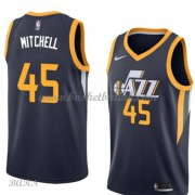 Barn Basketball Drakter Utah Jazz 2018 Donovan Mitchell 45# Icon Edition Swingman..