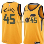 Barn Basketball Drakter Utah Jazz 2018 Donovan Mitchell 45# Statement Edition Swingman..