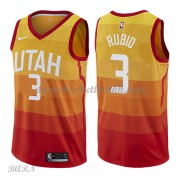 Barn Basketball Drakter Utah Jazz 2018 Ricky Rubio 3# City Edition Swingman..