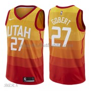 Barn Basketball Drakter Utah Jazz 2018 Rudy Gobert 27# City Edition Swingman..