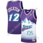 Barn Basketball Drakter Utah Jazz 1996-97 John Stockton 12# Purple Hardwood Classics Swingman Drakt..