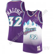 Barn Basketball Drakter Utah Jazz 1996-97 Karl Malone 32# Purple Hardwood Classics Swingman Drakt..