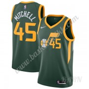 Barn Basketball Drakter Utah Jazz 2019-20 Donovan Mitchell 45# Grønn Earned Edition Swingman Drakt..