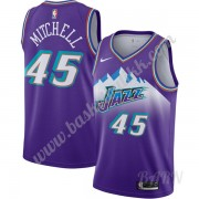 Barn Basketball Drakter Utah Jazz 2019-20 Donovan Mitchell 45# Purple Finished Hardwood Classics Swi..