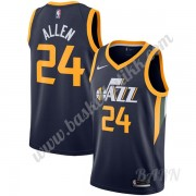 Barn Basketball Drakter Utah Jazz 2019-20 Gråson Allen 24# Marinen Icon Edition Swingman Drakt..