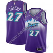 Barn Basketball Drakter Utah Jazz 2019-20 Rudy Gobert 27# Purple Finished Hardwood Classics Swingman..