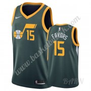 Barn Basketball Drakter Utah Jazz 2019-20 Derrick Favors 15# Grønn Earned Edition Swingman Drakt..