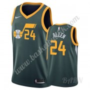 Barn Basketball Drakter Utah Jazz 2019-20 Gråson Allen 24# Grønn Earned Edition Swingman Drakt..