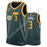 Barn Basketball Drakter Utah Jazz 2019-20 Ricky Rubio 3# Grønn Earned Edition Swingman Drakt..