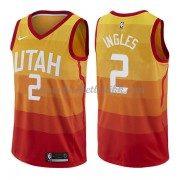 Utah Jazz NBA Basketball Drakter 2018 Joe Ingles 2# City Edition..