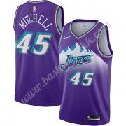 Utah Jazz NBA Basketball Drakter 2019-20 Donovan Mitchell 45# Purple Finished Hardwood Classics Swin..