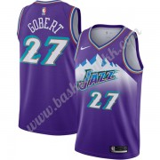 Utah Jazz NBA Basketball Drakter 2019-20 Rudy Gobert 27# Purple Finished Hardwood Classics Swingman ..