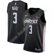 Washington Wizards NBA Basketball Drakter 2019-20 Bradley Beal 3# Svart City Edition Swingman Drakt..