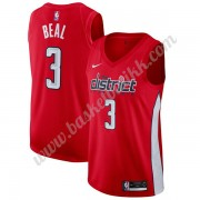 Washington Wizards NBA Basketball Drakter 2019-20 Bradley Beal 3# Rød Earned Edition Swingman Drakt..