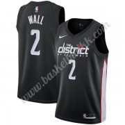 Washington Wizards NBA Basketball Drakter 2019-20 John Wall 2# Svart City Edition Swingman Drakt..