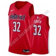 Washington Wizards NBA Basketball Drakter 2019-20 Jeff Grønn 32# Rød Earned Edition Swingman Drakt..