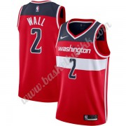 Washington Wizards NBA Basketball Drakter 2019-20 John Wall 2# Rød Icon Edition Swingman Drakt..