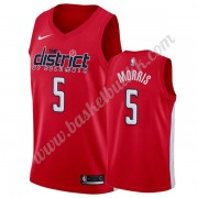 Washington Wizards NBA Basketball Drakter 2019-20 Markieff Morris 5# Rød Earned Edition Swingman Dra..