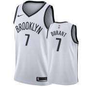 Brooklyn Nets NBA Basketball Drakter 2019-20 Kevin Durant 7# Hvit Association Edition Swingman Drakt..