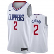 Los Angeles Clippers NBA Basketball Drakter 2019-20 Kawhi Leonard 2# Hvit Association Edition Swingm..